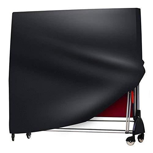 CYWEB Tischtennisplatte Abdeckung Wasserdichtes Hülle für Tischtennistisch Schutzhülle Ping Pong Tisch Wetterfest UV-Schutz Atmungsaktives 420D Oxford Gewebe, 165 x 70 x 185 cm (Schwarz)