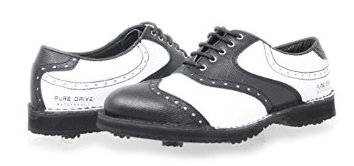 PORTMANN, Scarpe da Golf Uomo, (Vintage Black Pyton \ White Tumbled), 39 EU