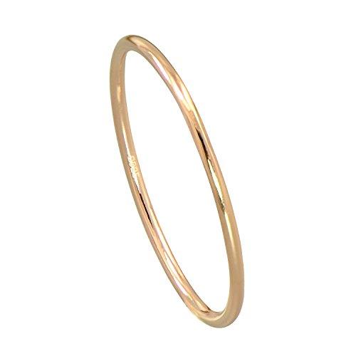 Midi ring semplice, in stile fede nuziale, comodo, in argento sterling, misura sottile da 2 mm e oro rosa-argento incamiciato, 7, colore: red, cod. jr30381rg07