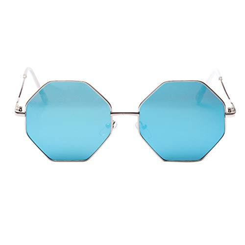 LUCKYCAT Bequeme Sonnenbrille Mit Polygon Gestell Mode für Herren und Damen Klassische Ovale Sonnenbrille Aus Metall klassische Unisex Retro Piloten Sonnenbrille Retro Vintage Stil