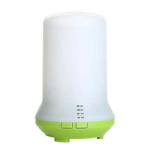 Umidificatore ad ultrasuoni 80ml della foschia con filtro, diffusore - Tranquillo, Long, scrittorio del LED / sala yoga / bagno / camera da letto Xagoo (verde)