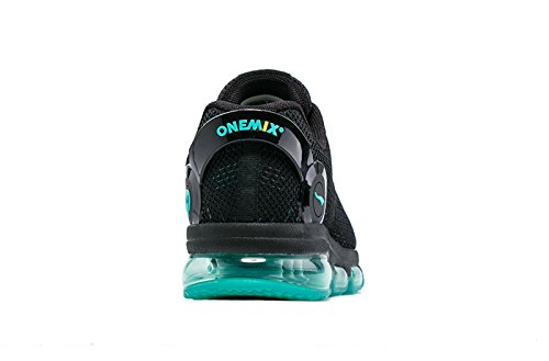 Onemix Herren Damen Dämpfung Joggingschuhe Straßenlaufschuhe Mit Luftpolster,Gr 36-46 Schwarz Blau