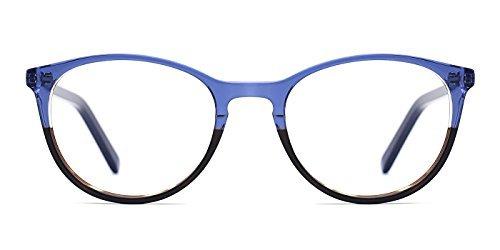 TIJN Damen Ovale Brille Ohne Stärke Rahmen mit klarem Linse