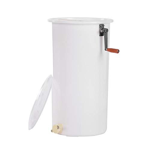 EBTOOLS Extractor de Miel de Aabeja Manual 2 Cuadros Plástico No Ttóxico Coleccionista de Miel Herramientas de Apicultura Equipo de Nido de Abeja (Blanco)
