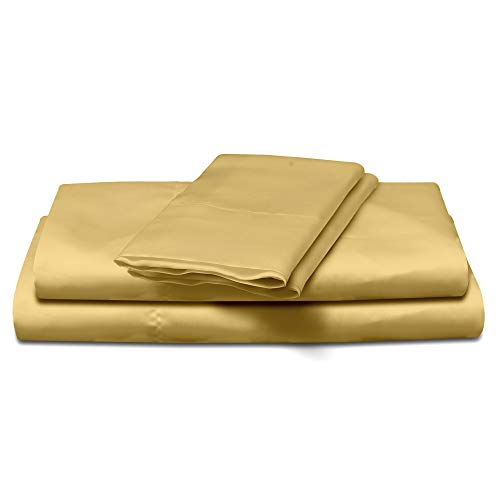 Bett-set Queen-bronze (Natural Life Home Bettlaken-Set aus Satin Queen Bronze)
