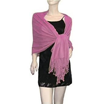 Pashmina Various Colours Scarf Stole Wrap Christmas Gift (Baby Pink)