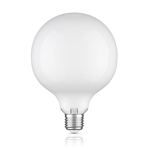 Price comparison product image ledscom.de E27 LED Globe Lamp Filament Extra Mat G125 8W =60W Warm White (2700K) 800lm For Indoor And Outdoor