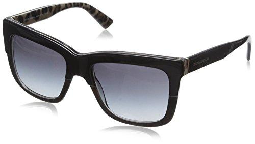 Dolce&Gabana Damen Sonnenbrille DG4262, Gr. Medium (Herstellergröße: 54), Grau (Schwarz Leomuster/grau verlauf 28578G) (Dolce Leopard Gabbana)