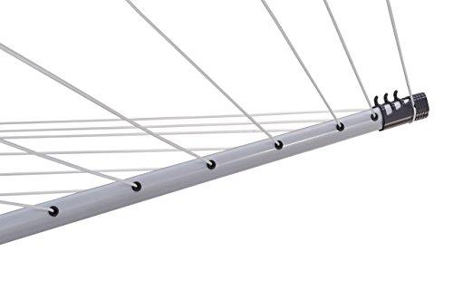 Leifheit Linopush 500 Tendedero de Jardín, plástico ABS^PP^Aluminio Inoxidable^Acero^poliéster, Negr
