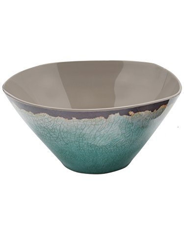 mco-home-turquoise-stoneware-glaze-effect-picnic-outdoor-dining-rustic-melamine-bowl-turquoise-large