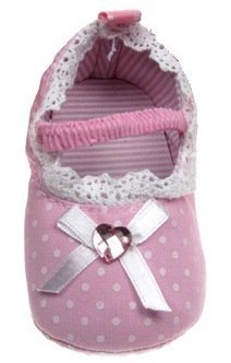 Soft Touch–Baby Schuhe Ballerinas gepunktet 0/3 mesi fuchsia rosa