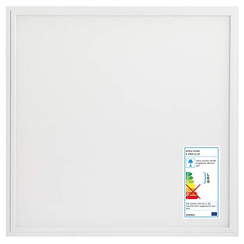 [5er Set] illumitec LED Panel blendfrei UGR<19 40W 4000 Lumen (100 lm/W) 620x620x10 mm 62x62x1 cm Neutralweiß 840 (4000K) Bildschirmarbeitsplatz Büroleuchte Rasterleuchte Einlegeleuchte Odenwalddecke