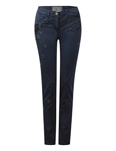 Cecil, Pantaloni Donna Blau (Deep Blue 10128)