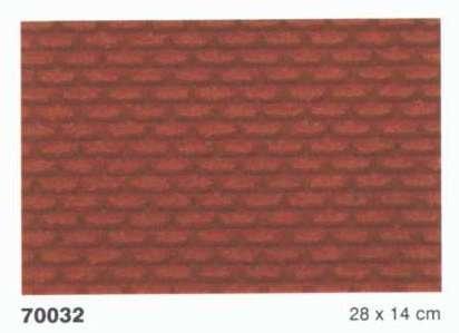 Heki 70032 Ziegelwand H0 / Tt 2 Stück, Größe: 28 x 14 x 0,3 cm, Mehrfarbig