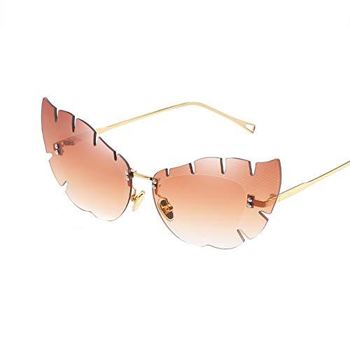 Gespout Sonnenbrille Schmetterlingsform Frauen Mädchen Sonnenschutz Charakteristisch Damen Frau Mode Sonnebrille Klare Linse Brille Glasses Gläser für Geschenk Strand Reise Geburtstag