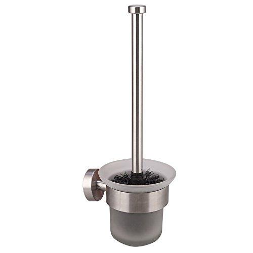 WC-Bürstenhalter, Dailyart WC-Garnitur Toilettenbürste mit Glaseinsatz und austauschbaren Toilettenbürste WC-Bürste - zur Wandmontage , Befestigen ohne bohren