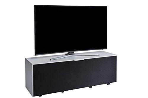 Jahnke Meuble TV TL 514 Sound, Bois, Blanc, 40 x 140 x 45 cm