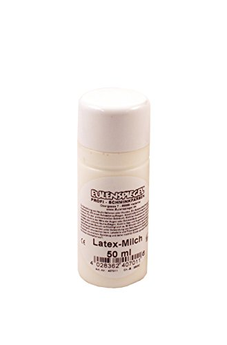 Eulenspiegel Profi-Schminkfarben Latex -Milch, 1er Pack (1 x 50 ml) (Latex Halloween-make-up)