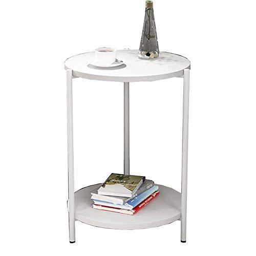 Axdwfd tavolino vintage in legno massello + tavolo da pranzo in ferro battuto a 2 strati tavolino da salotto della camera da letto tavolino da snack di moda 4 colori (colore : 1)