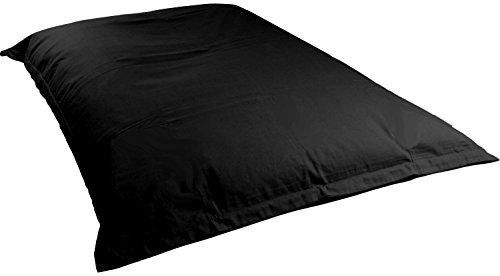 BigDean Hülle für Riesensitzsack 1,4 x 1,8 m XL Sitzsack Schwarz ohne Füllung