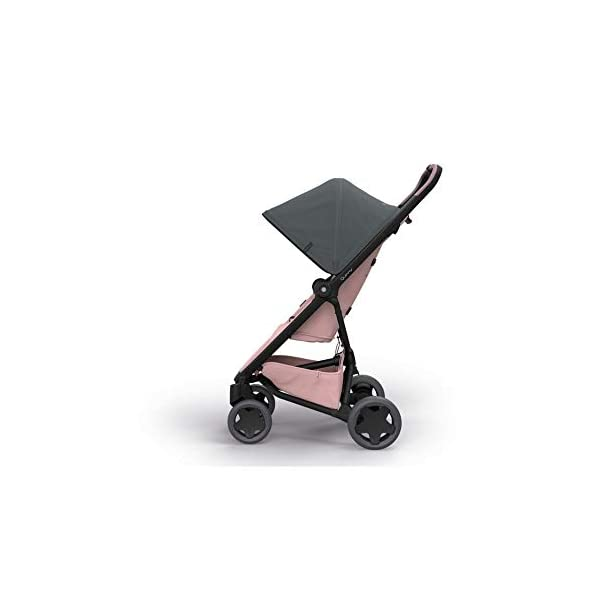 Quinny Zapp Flex Plus Urban Pushchair, Graphite on Blush Quinny Can be used from birth when combined with quinny from-birth cocoon or a maxi-cosi baby car seat (sold separately) This flexible pushchair features a two-way seat that fully reclines in both directions Closed push bar allows for easy one-hand pushing 6