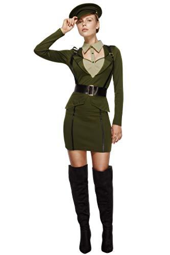 Fever, Damen Kapitän Kostüm, Kleid, Auffanggurt und Hut, -