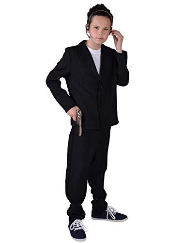 Bodyguard Kostüm - MAGIC BY FREDDYS Bodyguard Kinder schwarz 2-TLG. 152