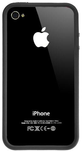Horny Protectors Bumper für Apple iPhone 4 rosa/weiß mit Metallbutton lila/transparent schwarz
