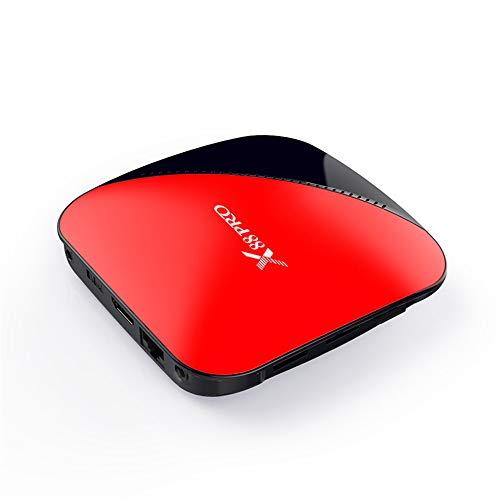 HM2 Android 9.0 TV-Box, 2 GB / 4 G RAM - 16 GB / 32 GB / 64 GB ROM Quad Core Media Player, 2,4 G / 5 G Dual Band WiFi 4 K 3D Smart TV-Box,Red Asf Mpeg Converter