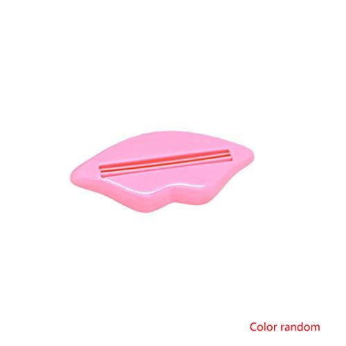 NAYUKY Zufällige Farbe Lippenform Zahnpasta Gesicht Waschen Reinigung Schaum Creme Roller Squeezer Dispenser ABS Clip - Gesicht Waschen Schaum