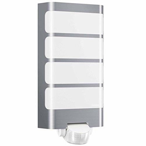 Steinel LED Außenleuchte L 244 LED Edelstahl, 7.5 W, 180° Bewegungsmelder, 10 m Reichweite, Hauseingang und Terasse