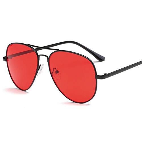 TIANKON Sonnenbrillen Herren Retro Damen Big Red Sonnenbrillen Female Male Driving Sonnenbrillen Uv400,C3 Rot