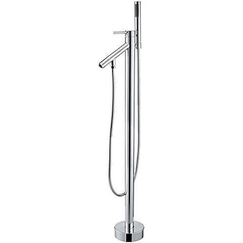 Pavimento, jiuzhuo cromato rubinetto miscelatore per vasca da bagno con doccetta