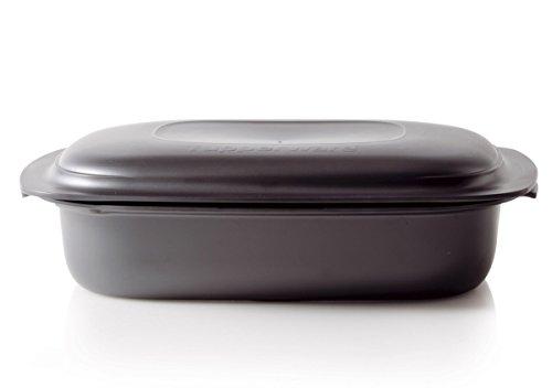 Tupperware H33 UltraPro 3,3 L Bräter flach Ultra Pro Kasserolle Ultraflach, Kunststoff, schwarz, 36 x 26.8 x 11.4 cm