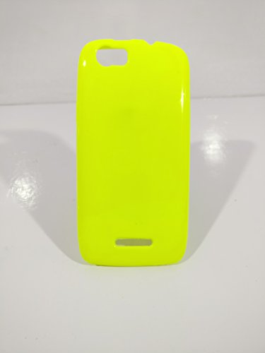 iCandy™ Colorfull Thin Soft TPU Back Cover For Xolo Plus Q1000s - Yellow  available at amazon for Rs.99