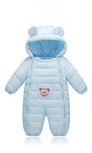 (Herbst-und Winter-Neugeborene Baumwollkleidung männliche und weibliche Kleinkinder kriechen, um Kinder-Baby-Baumwollkleidung Jumpsuit tragen,Blue,80cm)