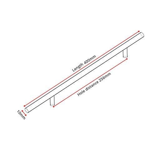 2~24 Edelstahl Schrank Griffe Durchmesser 10mm Küche Tür T Bar Gerade Griff Ziehen knöpfe Möbel Hardware -