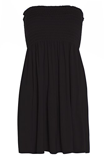 GUBA® Damen Bandeau Kleid Gr. 48, schwarz Bandeau-kleid