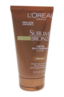 L'Oreal Paris Sublime Bronze Tinted Self-Tanning Lotion, Medium Natural Tan, 5.0 Fluid Ounce by L'Oreal Paris (Sublime Medium Natural Tan Bronze)