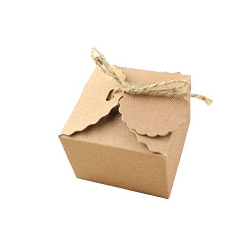 aft Papier-Süßigkeit-Kasten mit Band Hängend Karte Kreative Hochzeit Geburtstags-Party-Platz DIY-Süßigkeit-Kasten ()