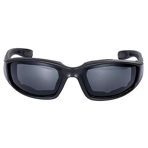Motorradfahrerbrille, bruchsicher, gepolstert, Antibeschlag, Rundum-Motorrad-Sonnenbrille, Bikerbrille, Sport Radfahren Sonnenbrille Free Size grau