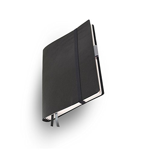 Whitebook Soft S201-SL, notebook modulare, Veaux Prestige, nero, antique brown, 240 pag., carta FSC (iPad Air & Samsung Tab 9.7