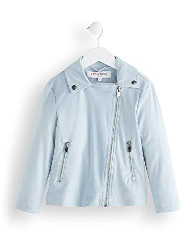 RED WAGON Mädchen Suedette Biker Jacket Mantel, Blau (Blue), 152 (Herstellergröße:12)