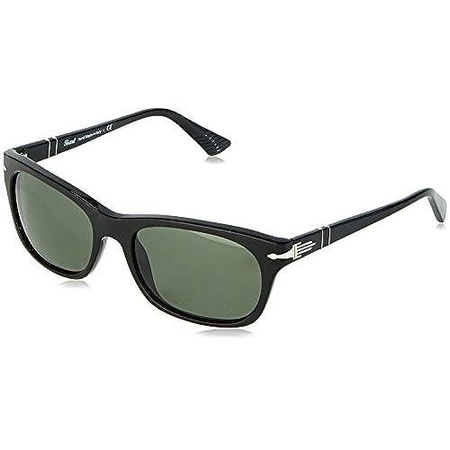 Persol Herren 0Po3099S 95/31 56 Sonnenbrille, Schwarz (Black/Green)