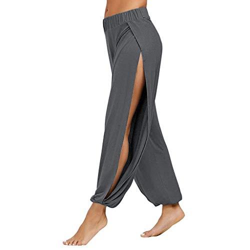 Allence Harem Style Yogahosen für Damen Weiche Odile Stoff Lange Hose Freizeit und Sport Geeignet -