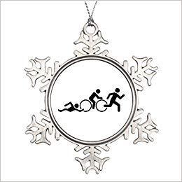 Monsety 7th Gener Triathlon Weihnachtsbälle Sport Weihnachten Schneeflocke Ornament 2018 Lustige Weihnachtsbaum Zweig Deko Andenken (Sport-ornamente, Weihnachten)