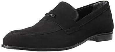 Calvin Klein Men's  Black-2 Leather Formal Shoes - 10.5 UK