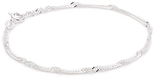 Pasionista Silberarmband Größe 21 cm Damen-Armband 925 Sterling Silber inkl. Geschenketui Damenarmband Silberarmband made in germany