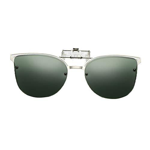 Sonnenbrille polarisiert Clip Flip up,blendfreie Brille zum Fahren, Angeln, Freiluftaktivitäten, für Damen und Herren