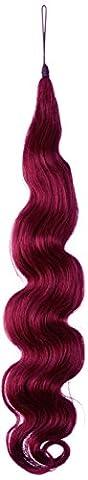 American Dream le Rajout Capillaire Cheveux Humains Minivague Couleur Bordeaux 18
